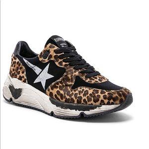 Golden Goose Running Sole Sneaker Leopard/White